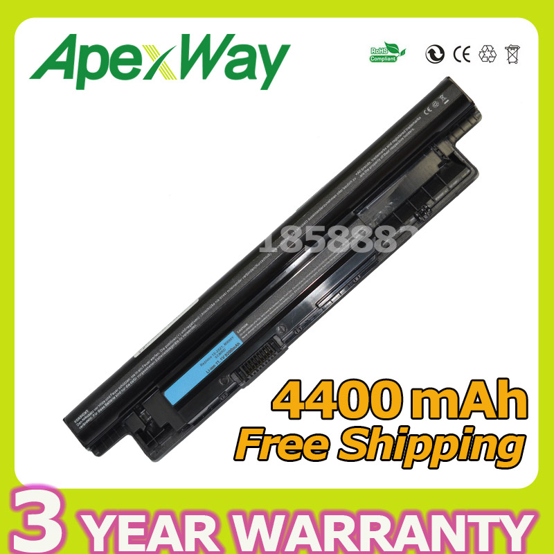 Apexway 6 Cells Battery for Dell MR90Y 6K73M 312-1387 for Vostro Inspiron 2521 2421 17R 5721 3721 15R 5521 3521 14R 5421 3421 шлифовальный круг top 99946 для dell inspiron 17r n7110 7720 3721 5720 5721 vostro 3350 3450 3550 3750 xps17 l702x black