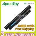Apexway 6 células bateria para dell mr90y 6k73m 312-1387 para vostro Inspiron 2521 2421 14R 17R 15R 5721 3721 5521 3521 5421 3421
