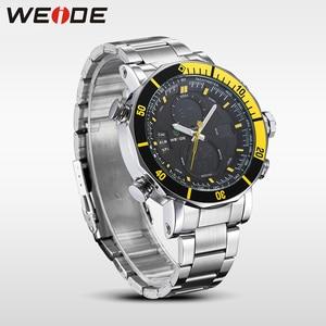 Image 2 - WEIDE Heren Horloges Top Brand Luxe Analoge Digitale LCD Quartz Military Army 30 M Waterdichte Blue Dial Polshorloge met geschenkdoos