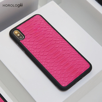 Horologii New Design Snake Skin case for iphone X Max 7 XR phone cases leather for personalized custom leather dropship