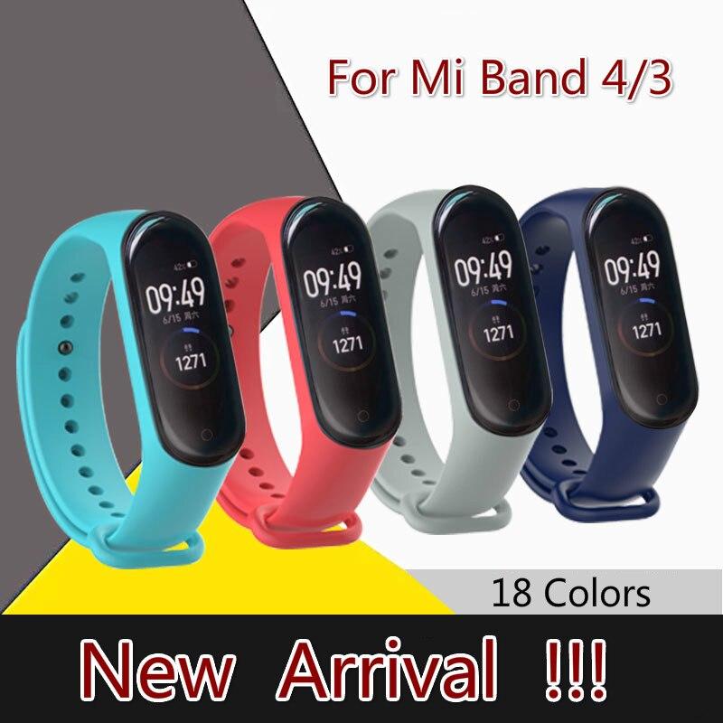 Mi Band 3 4Strap For Xiaomi Mi Band 3 4 Wristband Strap Silicone Wrist Strap For Xiaomi Mi Band 3 4Replacement Strap Accessories