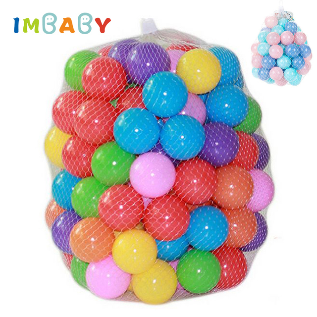 IMBABY Baby Playpen 100 pcs/lot 5.5cm/7cm Ocean Ball Macaron Candy Air Ball  Soft PE Swimming Pool Playpen Toy Ball