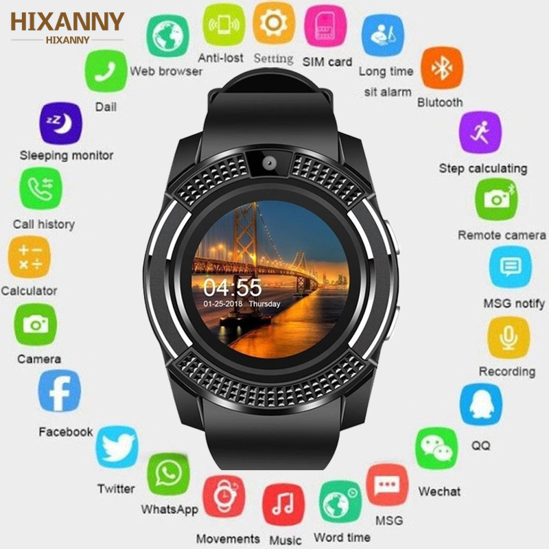 men waterproof Smart Watch Bluetooth touch screen Android waterproof sports men and women smart watch with camera SIM card slot V8 PK Y1 A1 (1)