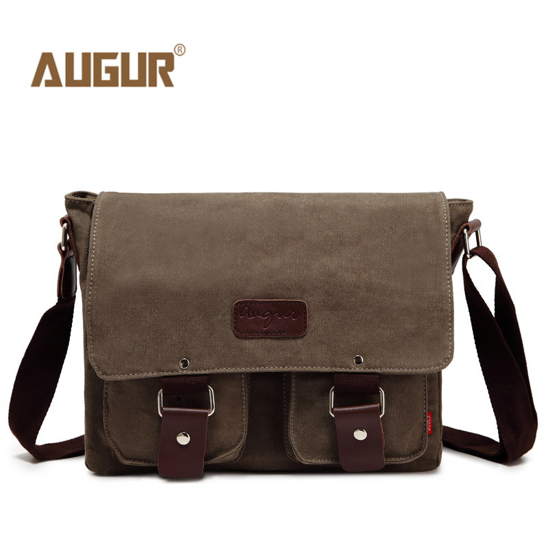 Unisex Vintage Canvas Messenger Bags Genuine Leather Casual Shoulder Bags School Military Travel Crossbody Bag augur 2017 canvas leather crossbody bag men military army vintage messenger bags shoulder bag casual travel school bags