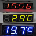 12 V 24 V Car Auto Led Digital de Tiempo Electrónico Del Reloj + Termómetro + Del Voltímetro Tres Colores Para Elegir