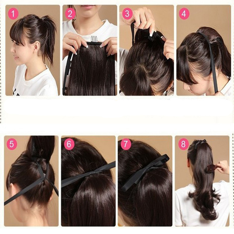 Local warehouse clip in ponytail hair extensions wrap around 22 local warehouse clip in ponytail hair extensions wrap around 22 inches 55cm straight style natural synthetic hair on aliexpress alibaba group pmusecretfo Images