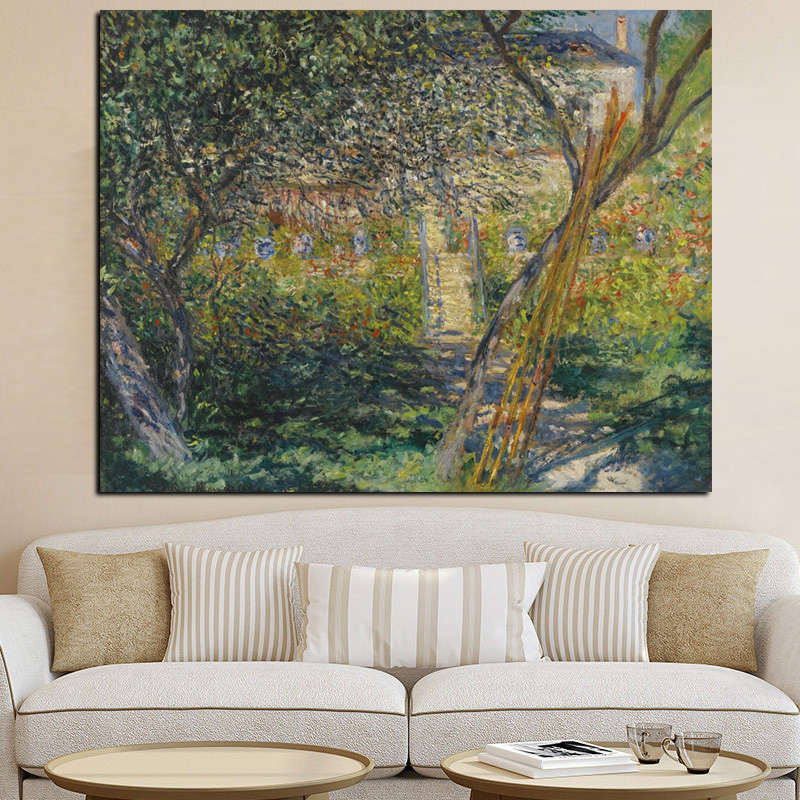 Monet Impressionist Landscape Poster Print Canvas Oil Painting Wall Picture TO