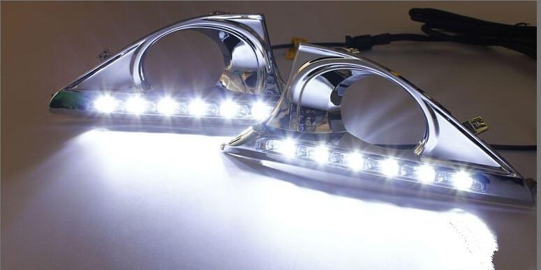 С бесплатной доставкой, функцией автоматического затемнения! Авто аксессуары светодиодные фары дневного света,светодиодные DRL для Тойота Камри 2013 года