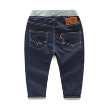 Child jeans high quality fashion children jeans for boys casual trousers baby boys denim pants solid color