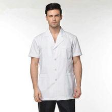 ca0fb5811 الذكور والإناث الأطباء ارتداء معطف المختبر ، ملابس قصيرة الأكمام الصيف ملابس  العمل الصيدلة ، الأسنان الملابس ، الأبيض معطف المست.