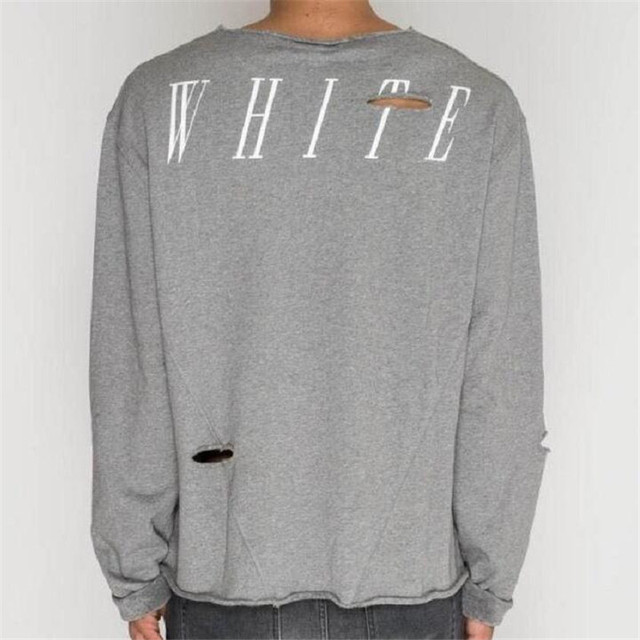 Aliexpress.com : Buy OFF WHITE Brand Long Sleeve T shirt Men ...