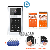 New Wifi IP Video Door Phone Intercom Doorbell With RFID Unlock Keypad Code Entry System Android
