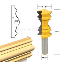1PCS Woodworking 1 2 Shank Large Elaborate Chair Rail Molding Router Bit JF1476