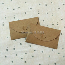 ree shipping blank kraft paper postcard envelope 60x99mm/retro invitation/gift packing box/card packing box/tags 100 pcs a lot