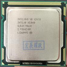Процессор Intel Xeon X3470 четырехъядерный процессор LGA1156 ПК компьютер cpu 100% работает правильно серверный процессор cpu X3470