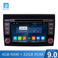 Besina Android 9.0 Car DVD Player For Fiat Bravo 2007 2008 2009 2010 Multimedia GPS Navigation Stereo WIFI 1 Din Car Radio Audio