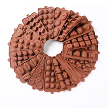 Silicone Chocolate Mold DIY Handmade Candy Baking Tools 28 Shapes Flexible Cake Jelly Mould