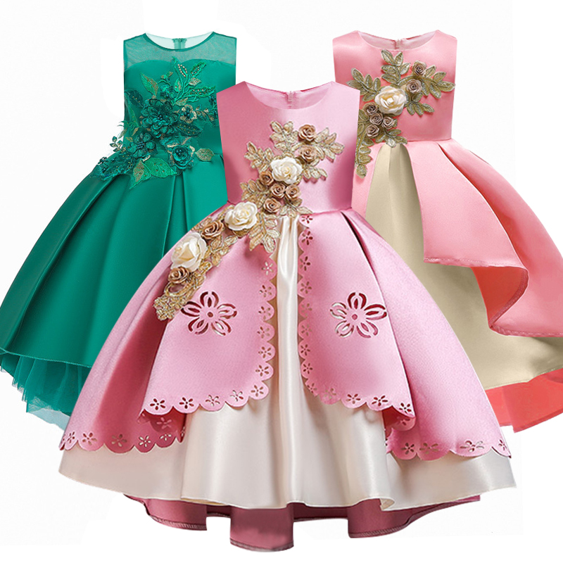Kids Evening Gown Banquet Princess   Dress   For 2019 Applique   Girls   Pageant   Dress   First Communion   Dresses   Wedding Party Gown