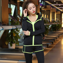 New Women's Yoga Sets Fitness Sportswear Suits Long Sleeve Yoga Shirts Running Gym Yoga Top And Elastic Slim Pants Sets