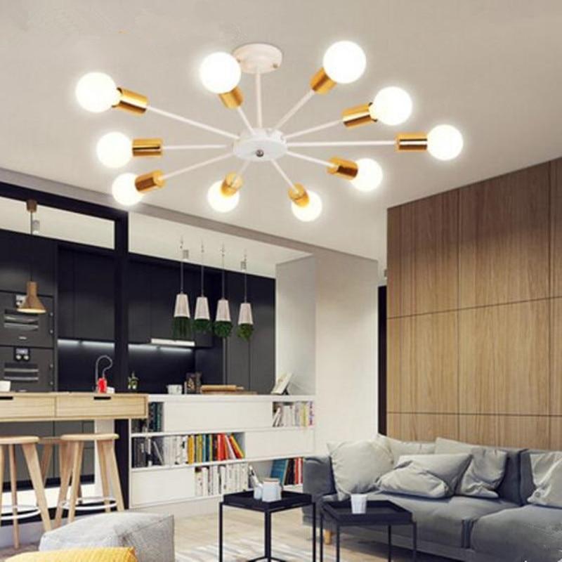 Moda interior conduziu a iluminação de teto montagem em superfície redonda luzes led lamparas de techo colgante moderna lampara techo