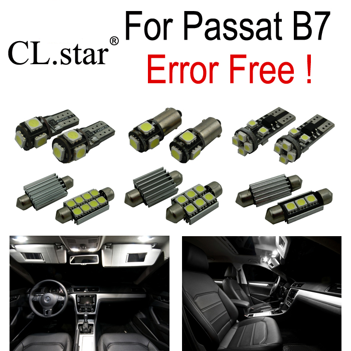 15pc X canbus error free for Volkswagen VW Passat B7 LED Interior Light Kit  package (2012+) Sedan ONLY for volkswagen passat b6 b7 b8 led interior boot trunk luggage compartment light bulb