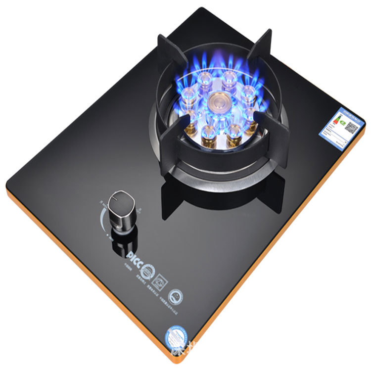 Nine Chamber Fierce Fire Liquefied Gas Bulit-in Gas Hobs Embedded Natural Gas Desktop Energy Saving Gas Single Range Stove