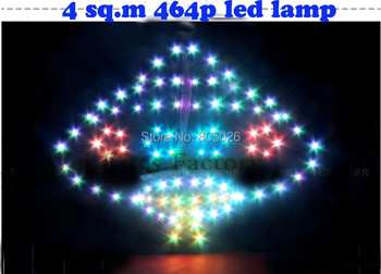 free shipping high quality 4 sq.m led kite fun ufo kite 464 p Super Flux with handle line battery children outdoor fun sport wei цена 2017