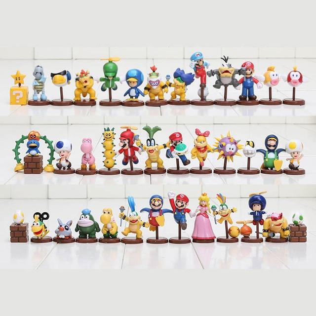 13pcs set super mario bros figures 3 6cm mini figures toy. Black Bedroom Furniture Sets. Home Design Ideas