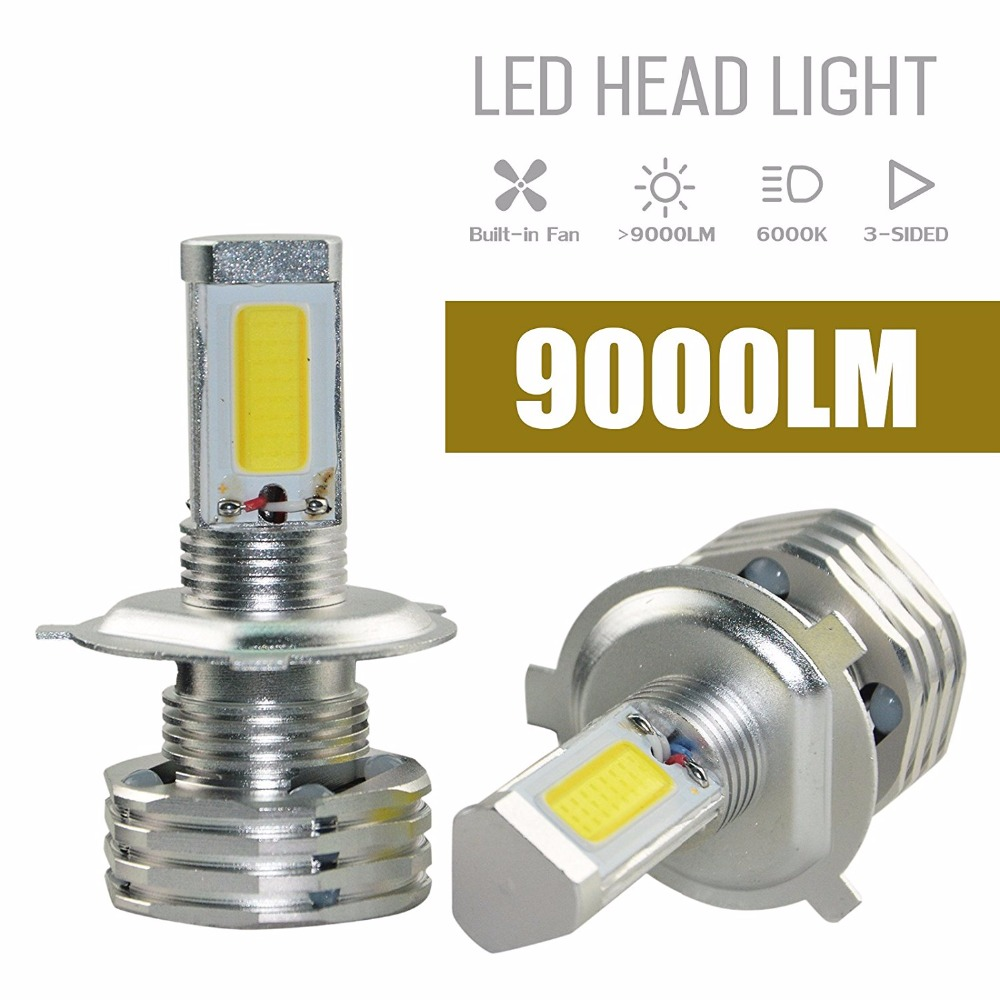 NEW H4 9003 HB2 90W 9000LM CREE Chips LED Headlight Kit Hi/Lo Beam Bulbs 6000K CREE COB Chips LED HeadLight H/L Head Beam Bulb anti interference 2x new h4 9003 hb2 180w 30000lm led headlight kit hi lo beam bulbs 6000k 2018