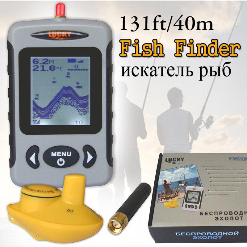 New Wireless Sonar Portable Fish Finder Sensor Echo Sounder Alarm River Lake Sea Bed Live
