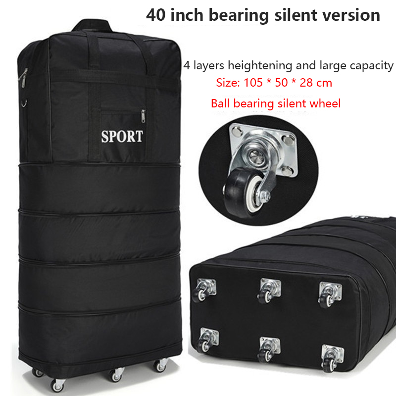 Image 3 - 158 air consignment baggage large capacity study abroad suitcase aircraft consignment Cardan wheel folding baggage-in Travel Bags from Luggage & Bags