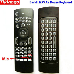 Image 2 - MX3 backlight Voice Air Mouse keyboard Russian English 5 IR Learning keys for Android Smart TV Box pc PK G30 G30s Remote Control