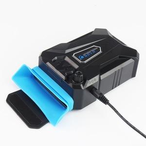 Image 4 - فراغ محمول دفتر مبرد كمبيوتر محمول USB الهواء الخارجي استخراج مروحة التبريد لأجهزة الكمبيوتر المحمول سرعة قابل للتعديل لمدة 15 15.6 17 بوصة