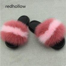 Fox Hair Slippers Women Fur Home Fluffy Sliders Plush Furry Summer Flats Sweet Ladies Shoes Large Size 45 Hot Sale Cute Pantufas цена 2017