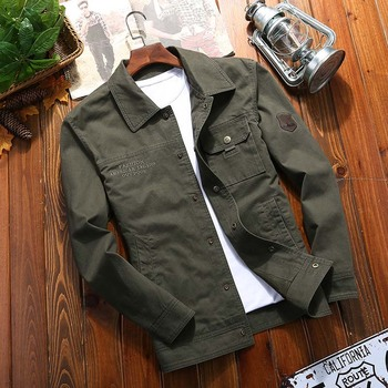 Men's Jackets Spring And Autumn Military Style Bomber Cotton Jacket Casual OUTWEAR Coats Plus Size 4XL