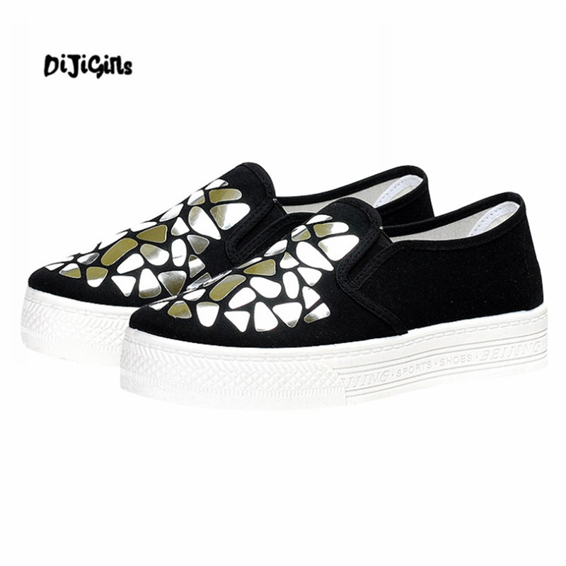 D'été Toile Dames Or Peu Femme Chaussure 2018 Chaussures Femmes argent Muffin Casual Profonde aOwF4AqRpO