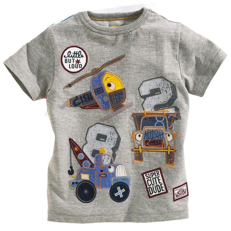 HTB1e9q.HXXXXXadXXXXq6xXFXXX2 - brand 2018 new fashion kids clothing 100%cotton blouse childrens clothes baby boy t shirts boy's top tee cartoon car Dinosaur
