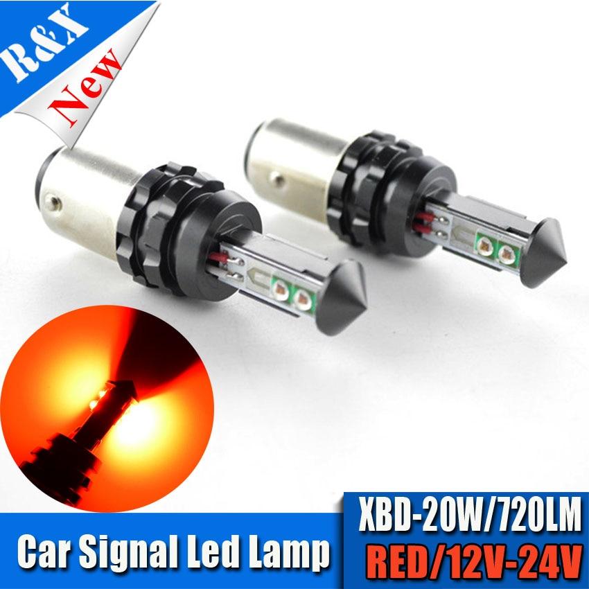 2x20W 1157 BAY15D P21 5W 4SMD XTE LED Auto Car Brake Tail Stop Light font b
