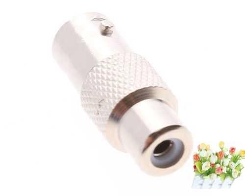 1X niklowane BNC żeńskie Jack na RCA wtyk żeński złącze adapter do CCTV kamery