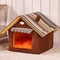 Venta caliente Linda Casa de Perro cama del animal Doméstico Cama Caliente Suave Perros Casa de Perro de la perrera Para Mascotas Saco de dormir Gato Doméstico Cama Del Gato Cama Perro