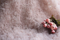 5 yards nude pink dust blush pink Rosette Fabric, 3D mesh backdrop fabric, new born baby photography backdrop fabric, SDF