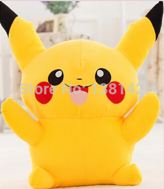 100 См pokemon Бика Цю питания подлинная плюшевые игрушки куклы день рождения/Рождественский подарок, чтобы Король Пикачу Мягкие Игрушки бесплатно доставка