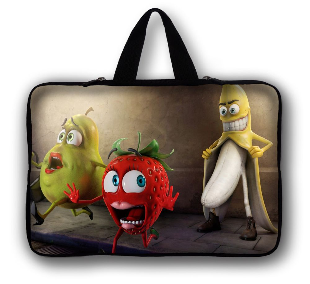 15 15.4 15.6 Fruits Neoprene Laptop pad tab Carrying Bag Sleeve Case Cover Holder + Hide Handle For Dell Hp Lenovo Acer Asus