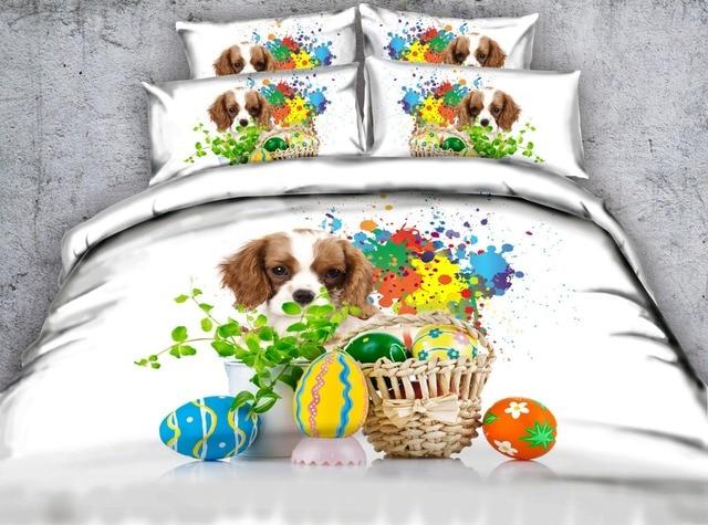 Aliexpress Com Buy Plastic Eggs Dogs 3d Bedding Sets Comforters