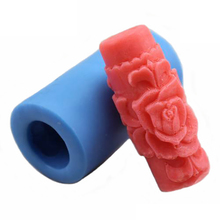 Nicole Silicone Mold for Soap Candle Making 3D Cylindrical Peony Flower Columnar Mould For DIY Handmade