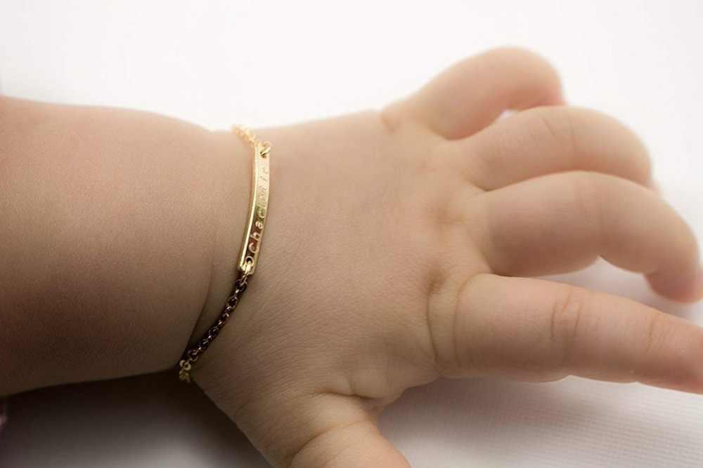 Metoo złoty/srebrny bransoletka dziecko nazwa własna stal nierdzewna stalowy łańcuch bransoletki dla kobiet bransoletka femme bangle
