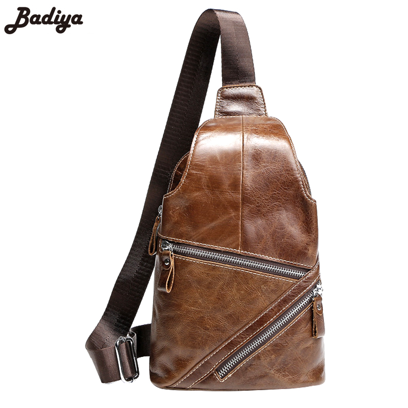 New Business Cowhide Leather Men's Messenger Shoulder Bags Multifunction High Quality Real Leather Chest Bag For Man
