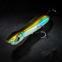 Top Water Fishing Lure Popper Bait 13 5cm 26g Green Poper Hard Bait Quality Fishing Wobbler