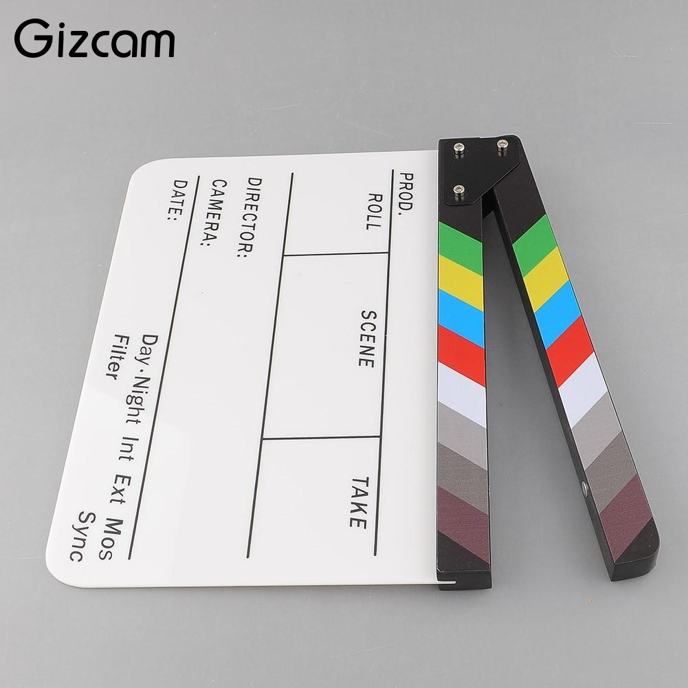 Video Film Action2018 new Colorful Clapperboard TV Movie Video Film Action Slate Clapper Board Handmade Photo Studio Accessories