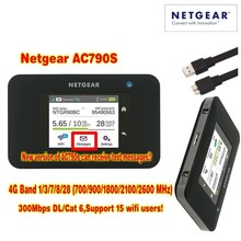 unlocked cat6 300mbps netgear 790s AC790S Aircard 4g lte mifi router dongle 4G LTE pocket wifi router plus 2pcs antenna